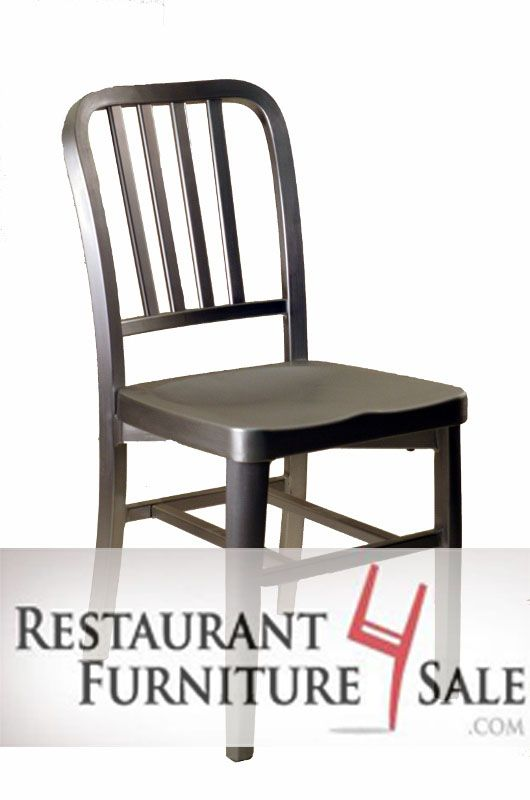 Closeout Commercial Outdoor Brushed Aluminum Four Bar Vertical Back Restaurant Chair All Sales Final This Commercial Outdoor Aluminum C