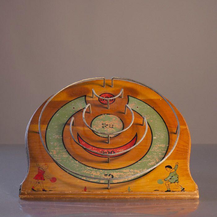 Skee ball/bowling hybrid game board