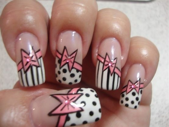 Cute Pink Bows - Nail Art Gallery by NAILS Magazine - The Beauty Thesis