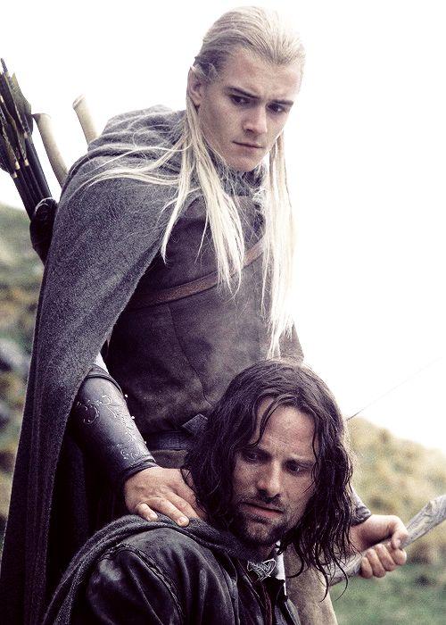 Legolas and Aragorn [Orlando Bloom and Viggo Mortensen]