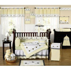 JoJo Designs 9-Piece Baby Designer Crib Bedding Set - Bumble Bee --- http://www.pinterest.com.gp1.me/4t2: Bees Baby, Baby Time, Baby Stama, Baby Design, Baby Boys, Baby D S, Baby Rooms, 9 Pieces Baby, Baby Stuff