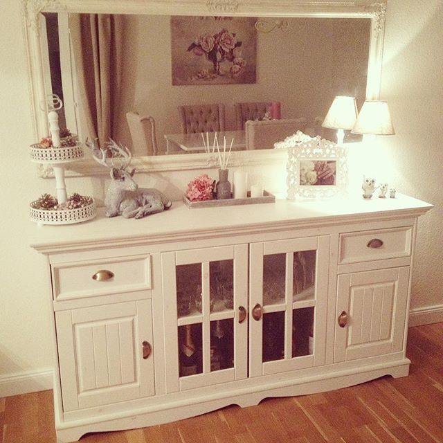 Elegant Awesome Pin By Gabi L On Wohnzimmer Pinterest Shabby Living Rooms And Room  With Sideboard Deko
