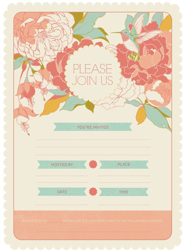 9 best images about invitations blank on pinterest for Garden wedding invitation designs