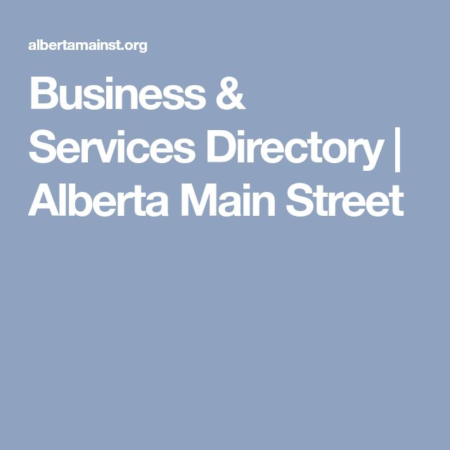 Business & Services Directory | Alberta Main Street