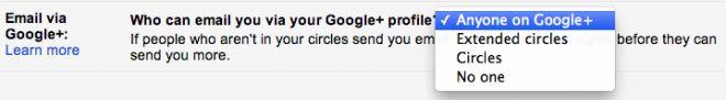 Google+ permitirá que cualquiera persona te envíe un correo a Gmail