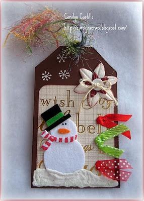 Carolynscrap: Tag para Navidad