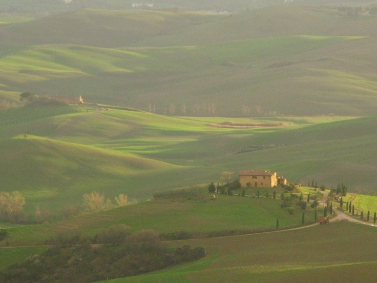 Tuscany is an example of the European tradition of treating entire landscapes as 'patrimony'.  It don't happen in the UK
