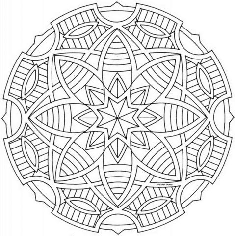 Celtic Mandala With Stars Coloring Page From Mandalas Category Select 27237 Printable Crafts Of Cartoons Nature Animals Bible And Many More