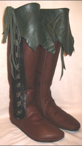 Artisan Made Leather Moccasins Renaissance Boots Buffalo Larp Medieval  Custom Handmade by Debbie Leather