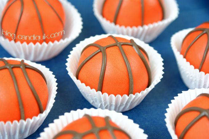 Basketball Cake Balls - @candiquik
