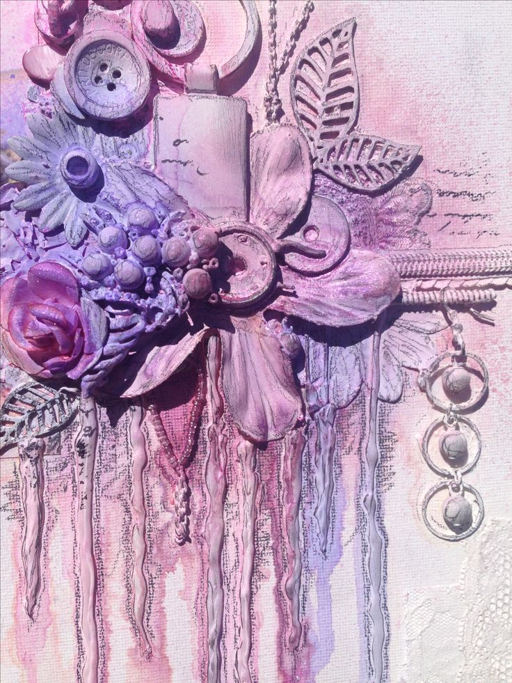 Mixed media canvas 2 @isblu @createcraftau