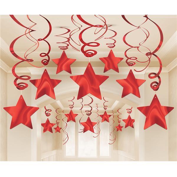 Pack 30 Estrellas Rojas Colgantes                                                                                                                                                                                 Más