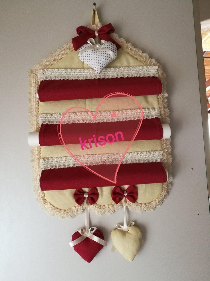 Pannello porta rotoli da cucina fatto a mano stile shabby, moderno., by krison, 20,00 € su misshobby.com