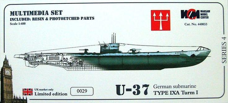 U-37 German Submarine Type IXA Turm I   FindModelKit.com