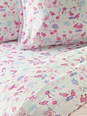 Flamingo Cotton Percale Sheets  {}