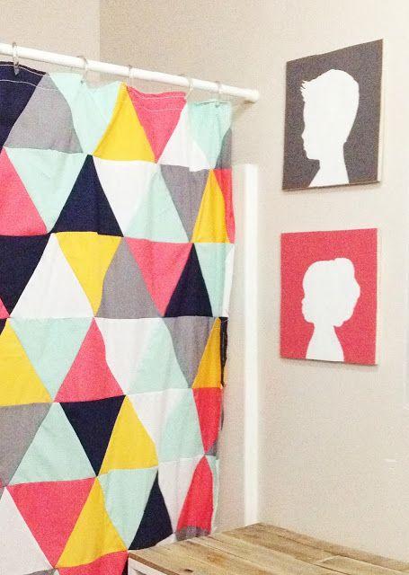 Diy Triangle Shower Curtain Diy Crafts Pinterest