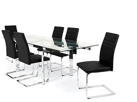 harveys glass dining table 4 chairs collections