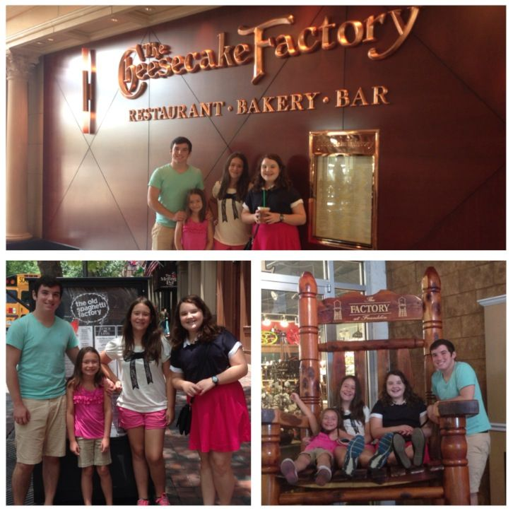 Nashville, TN July 2014 Factory Day - Spaghetti Factory, The Factory at Franklin, Cheesecake Factory