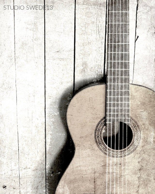 Black And White Guitar Guitar Photography Music Lover Art Etsy In 2021 Chic Wall Art Guitar Photography Guitar Art