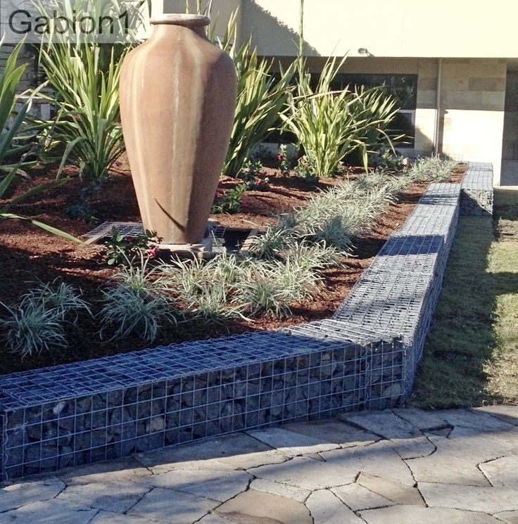 Low Gabion Retaining Wall And Front Garden Http Www