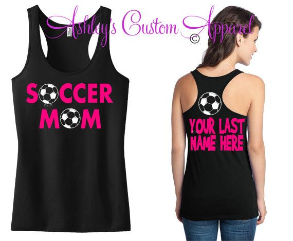 Soccer Mom With Personalized Name on Back by AshleysCustomApparel