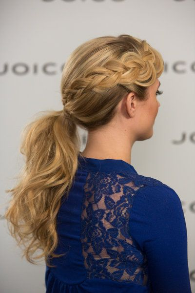Tousled ponytail with beautiful braided detail