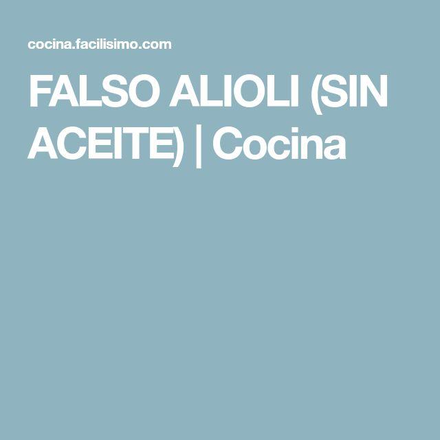 FALSO ALIOLI (SIN ACEITE) | Cocina