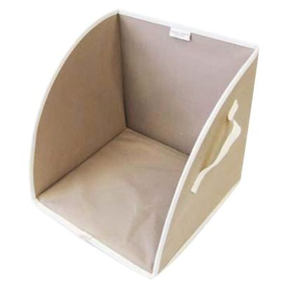 This thing is great in linen closets and closet shelves for keeping your folded piles from falling over.