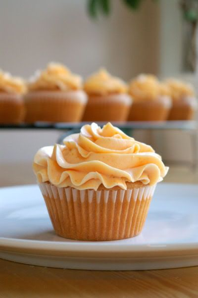 Peach cupcakes with Peach Buttercream... Cupcakes INGREDIANTS: 2-2 ½ cups unbleached white