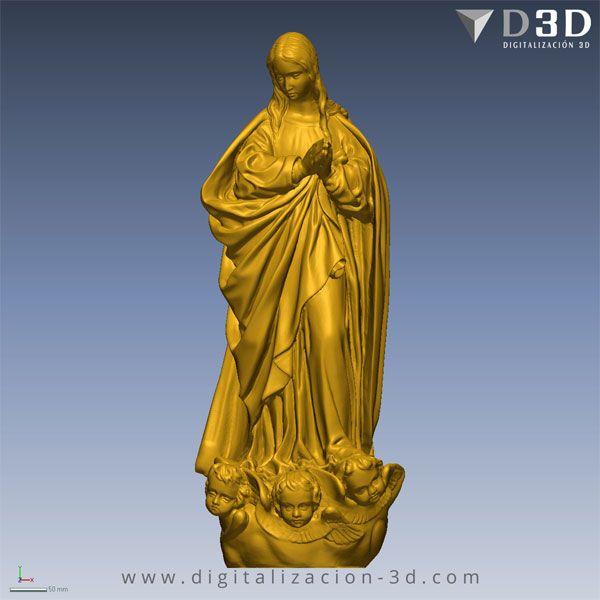 Digitalización 3d de Virgen Inmaculada