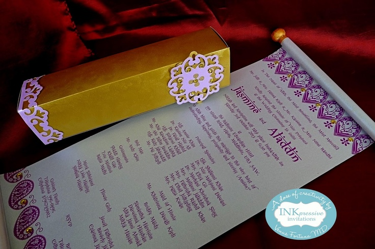 Inkpressive Invitations: Beautiful Scroll Arabian Nights ...