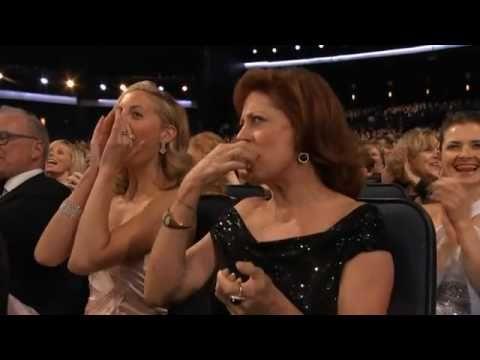 Jimmy Fallon, the Glee cast, Tina Fey, Jon Hamm,Betty White,   Nina Dobrev, and Randy Jackson - Born to Run - Emmys Opening Sketch - 2010 - YouTube...How did I miss this???