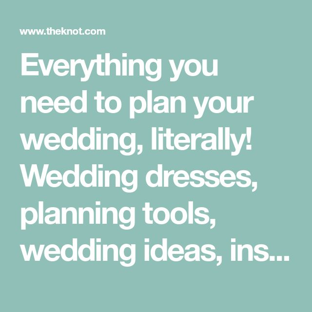 Everything you need to plan your wedding, literally! Wedding dresses, planning tools, wedding ideas, inspiration, photos, plus the best wedding vendors.