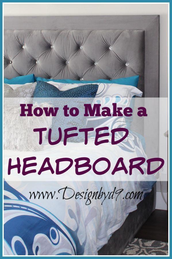 Diy Headboard With Crystal Buttons Diy Headboard Upholstered Diy Tufted Headboard Headboard Diy Easy
