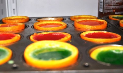 Rainbow Gelatin Orange Wedges | Recipe | Orange Wedges, Birthday Shots ...