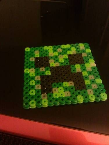 minecraft creeper! From Perler fuse beads