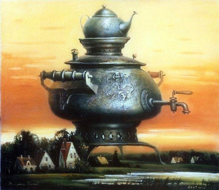 Голуб Владимир. (Golub Vladimir. Evening Tea-pot)