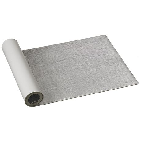 Hatch Table Runner 33x137cm  Silver Colour