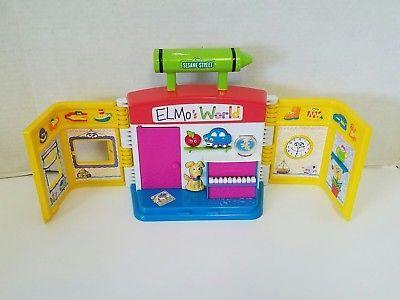 Sesame Street Elmo's World Talking Toy Sounds 2000 Mattel Figure Playset