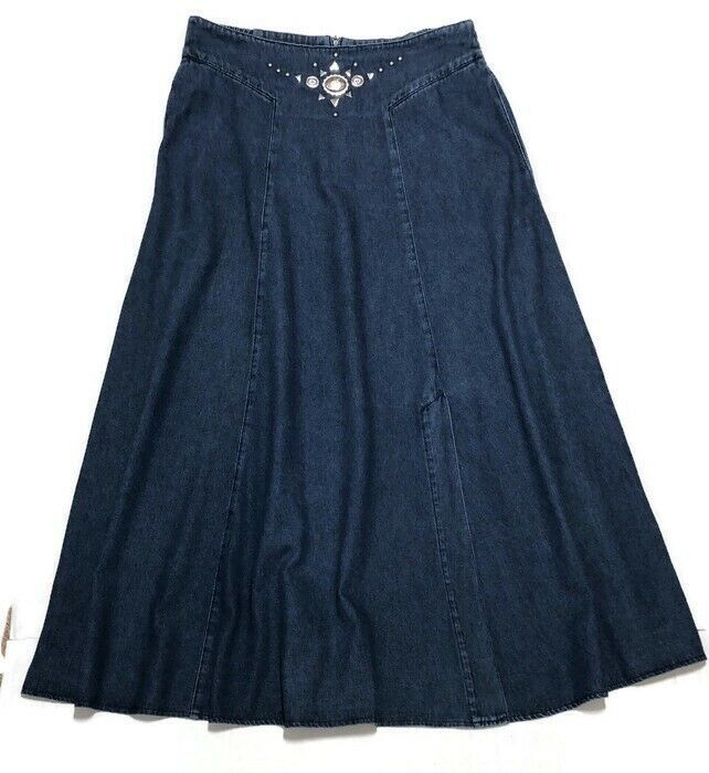 Pin by FLOretta Branch on dresses | Long denim skirt ... |Western Long Denim Skirts Modest