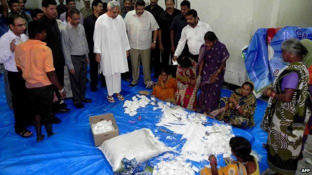 Relief operations are underway in Orissa to provide food and shelter for evacuees