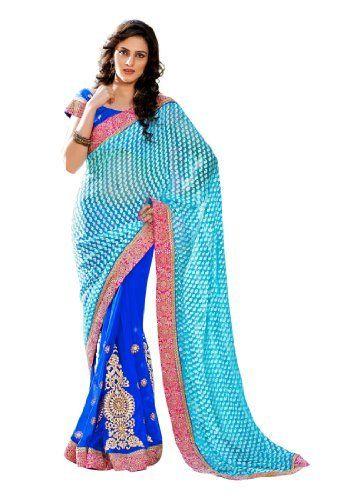 #Fabdealdotcom #Indian #Designer #Georgette #Blue #Embroidered #Saree Fabdeal, http://www.amazon.co.uk/dp/B00INWKUQ6/ref=cm_sw_r_pi_dp_jX4rtb0M9WVS2