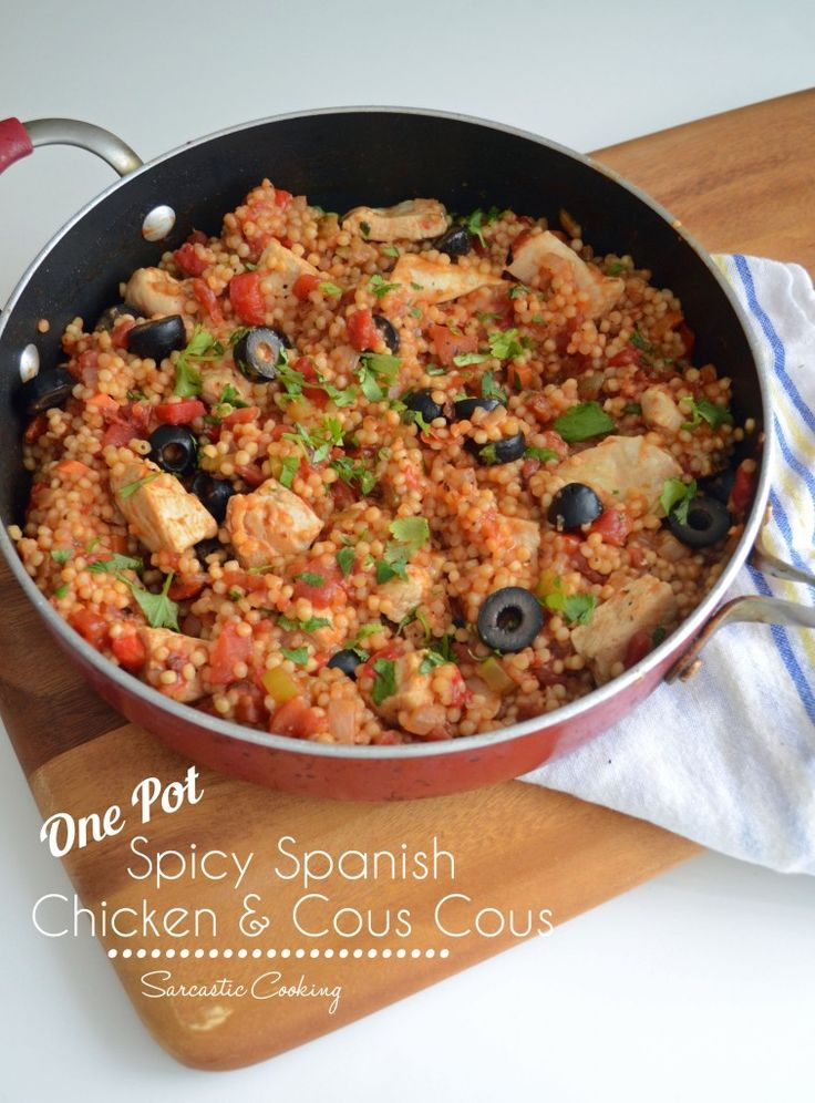Super Easy One Pot Spicy Spanish Chicken and Cous Cous - Sarcastic Cooking