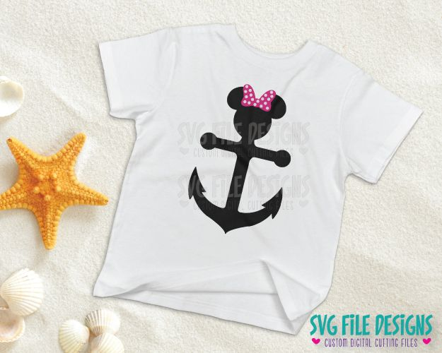 Mickey Mouse Anchor Svg Cut File Set For Diy Disney Cruise