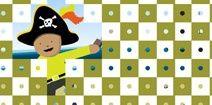 Juegos gratis para niños de 3 y 4 años: A jugar con el pirata usando el mouse.