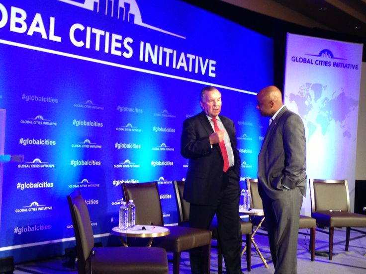 Talking with Mayor Daley following the Global Cities Inititative Denver Forum - 6/26/13