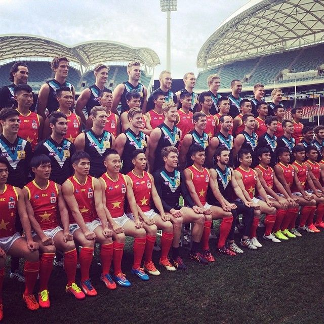 Fantastic to have Team China with us today at Adelaide Oval ahead of the AFL International Cup in Melbourne next week