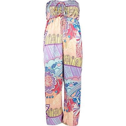 purple print pacha jumpsuit - pacha - swimwear / beachwear - women - River Island