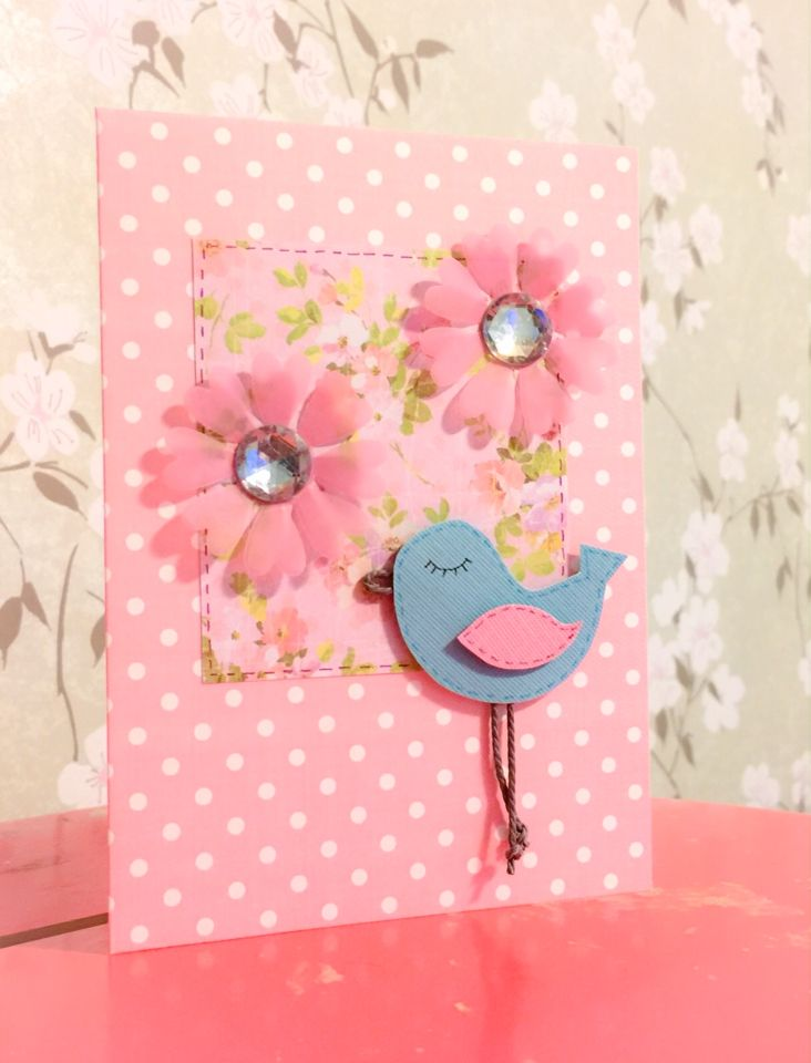 Kortti tyttövauvalle / A card for a baby girl