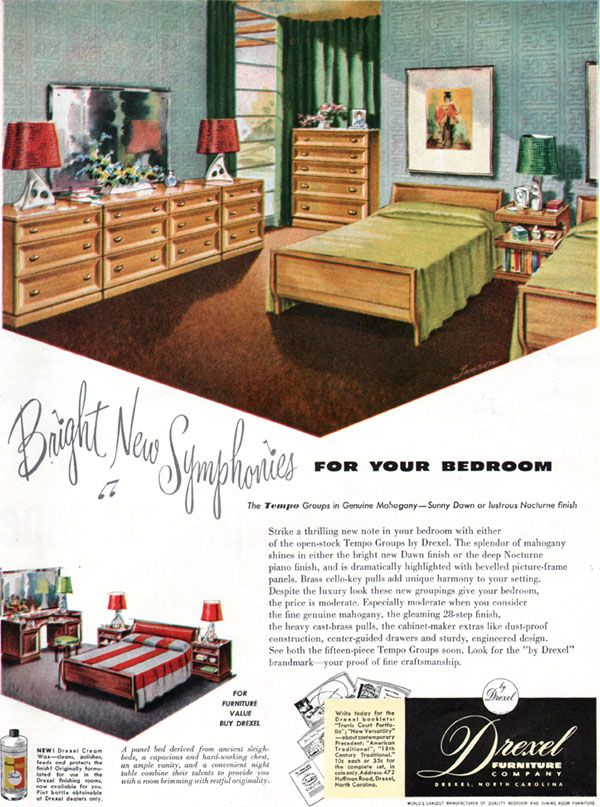 DREXEL 1950 Tempo   House Beautiful Oct 1950